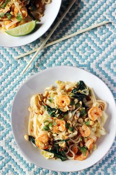 Thai Shrimp Street Noodles are a delicious stir fry. Why go to a restaurant when you can make it at home?