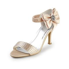 Charming 3 Bow  Rhinestones Open Toe Sandals - Formal Occasion shoes (8 colors)