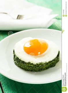 Creamy Spinach With Fried Egg - Download From Over 29 Million High Quality Stock Photos, Images, Vectors. Sign up for FREE today. Image: 41494593