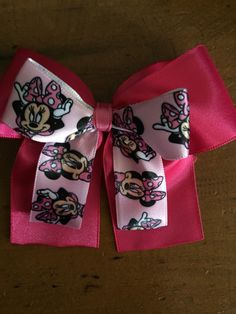 A personal favorite from my Etsy shop https://www.etsy.com/listing/223777108/minnie-mouse-inspired-hair-bow