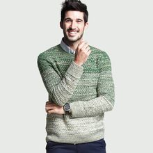 2016 New Men Sweater Autumn Winter O-neck Thick Kintwear Pullover Christmas jacquard Mens Sweaters(China (Mainland))