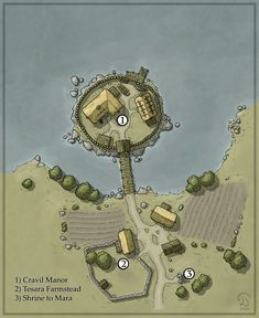 Fantasy Map Maker, Fantasy City Map, Fantasy Town, Fantasy Rpg, Medieval Fantasy, Dark Fantasy Art, Dungeons And Dragons Game, Dungeons And Dragons Homebrew, Village Map