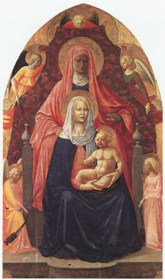 Masaccio e Masolino, Sant'Anna con la Madonna e il Bambino,1424, dipinto, Firenze, Galleria degli Uffizi