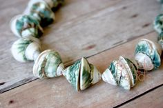 Green Spiral Shell beads, Nautilus cone, Conch tip ,18-20mm