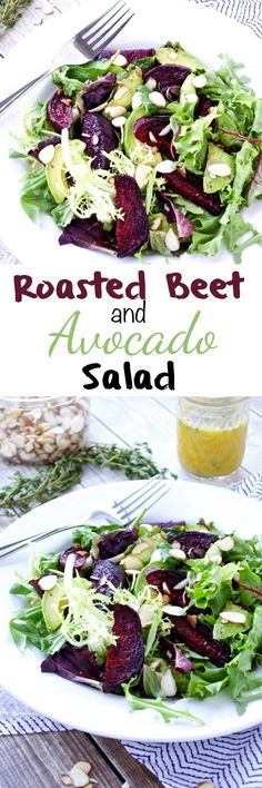 Roasted Beet and Avocado Salad makes a healthy and easy meal! It's gluten-free, dairy-free, vegetarian, and Paleo. Cooked Vegetable Recipes, Vegetable Korma Recipe, Spiral Vegetable Recipes, Vegetable Casserole, Vegetable Dishes, Vegetable Samosa, Vegetable Spiralizer, Spiralizer Recipes, Food Dishes