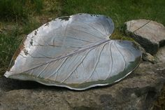 Ceramic Pottery Large Leaf Serving Plate Tray by OneGirlsPottery, $58.00