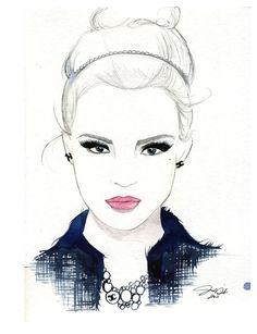 She Wore Chanel, #fashion #illustration #chanel