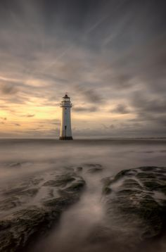 An HDR long exposure of Perch Rock lighthouse in New Brighton
