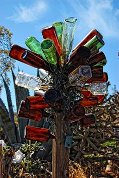 Bottle tree. It's kinda cool and a conversation piece for sure