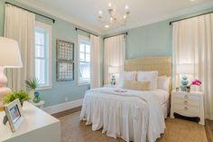 aqua blue coastal bedroom