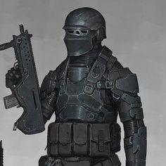 Sci-Fi Warrior by Ariel Perez on ArtStation. Weapon Concept Art, Armor Concept, Character Concept, Character Art, Character Design, Gundam, Transformers, Futuristic Armour, Sci Fi Armor