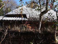 度々行きたい旅。: 京都観光:落柿舎でウメモドキの赤い実と初雪に感動!