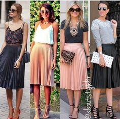 Get the latest in women's fashion and style from the fashion editors . Best… Get the latest in women's fashion and style from the fashion editors . Best women's Fashion for 2018 , women's fashion news and style advice; Blue Pleated Skirt, Pleated Skirt Outfit, Skirt Outfits, Midi Skirts, Fashion Tips For Women, Fashion Advice, Fashion News, Womens Fashion, Fashion Trends