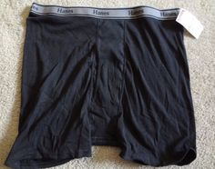 Hanes Comfort Flex Men's Black XL 100% Cotton Boxer Brief NWT Made In Vietnam #HanesComfortFlex #BoxerBrief