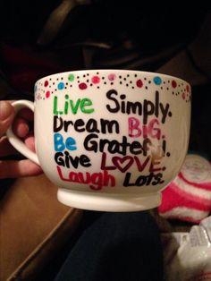Sharpie mug craft idea! http://www.pensnmore.com/Categories/Specials-and-More/Sharpie-Sale.aspx