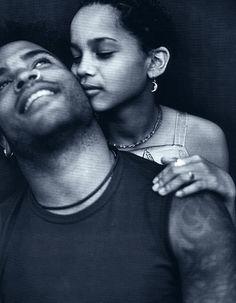 actress Zoe Kravitz with her father, rocker Lenny Kravitz Black Love, Black Is Beautiful, Beautiful People, Absolutely Gorgeous, Black Fathers, Fathers Love, Hard Rock, Folk Rock, Lisa Bonet