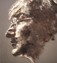 Very cool - John Lennon wool portrait
