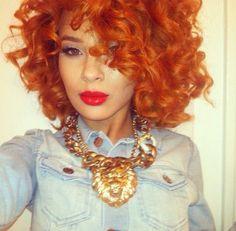 Rust Orange curls