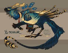 ArtStation - Bjorn Hurri's submission on Beyond Human - Character Design Mythical Creatures Art, Cute Creatures, Magical Creatures, Fantasy Creatures, Creature Drawings, Animal Drawings, Wolf Drawings, Creature Concept Art, Creature Design