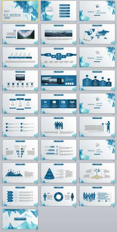 28+ Low Poly Blue Powerpoint Template | The highest quality PowerPoint Templates and Keynote Templates download