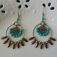Wire  Turquoise & Czechbeads