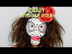 ▶ WIGGLE EYES halloween makeup - YouTube