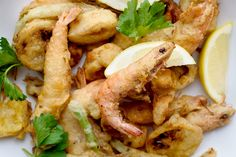 Every culture does fried food, but Italian cooks do it especially well The concept of fritto misto (mixed fried things) can apply to vegetables, fish or meat Here, with a beautiful assortment of shellfish, the only requirement is that everything be spanking fresh