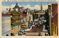 A bit of the orient, at the streets of the world, 1936 Great Lakes Exposition, Cleveland, Ohio