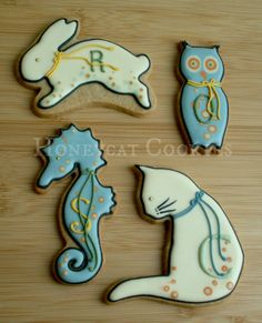 gallery of alphabetical cookies | Alphabet pets | Cookie Connection