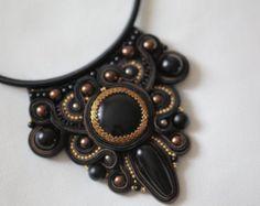 Soutache necklace by aizhandossum on Etsy