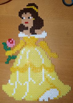 Disney Belle Hama beads by Christine