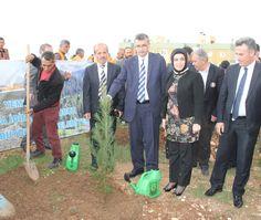 Şanlıurfa Büyükşehir Belediye Başkanı Celalettin Güvenç, TOKİ'de düzenlenen ağaç dikme törenine katılarak ağaç dikti. Maşuk TOKİ bölgesinde yeşillendirme çalışmasını aralıksız sürdüren Büyükşehir Belediyesi, 40 dekarlık alanda 5 bin çam fidanı dikti. Fotoğraflar: Mahmut Bulşan Haber Detay; http://www.sanliurfa.bel.tr/…/baskan-guvenc-agac-dikme-tore…