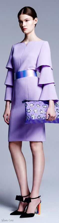Roksanda violet dress. women fashion outfit clothing style apparel @roressclothes closet ideas