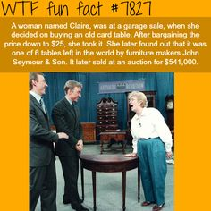 Woman bought an old table for $25, sells it for $500,000 - WTF fun facts