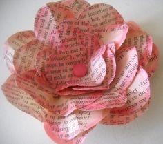 Vintage Paper Flower Embellishments
