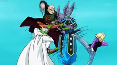 Trying to stop Lord Beerus