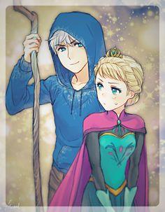 anime Jack and Elsa