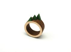 A Tiny Landscape on Your Finger: Birch Rings by Clive Roddy (trees)