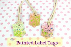 Diy Spray Painted Label Tags!!!    Get ready for Back to School and prepare a funny and easy craft with your kids for their School bags!  #diycraft #backtoschool #craftforkids #school #paint #doityourself #craftblogger