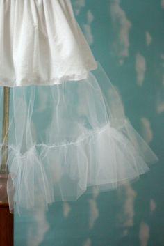 Close up of petticoat ruffles.