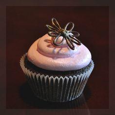 Chocolate flower cupcake #chocolate #flower #cupcake