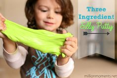 Three Ingredient Silly Putty {5 Minute Kid Craft} - A Million Moments