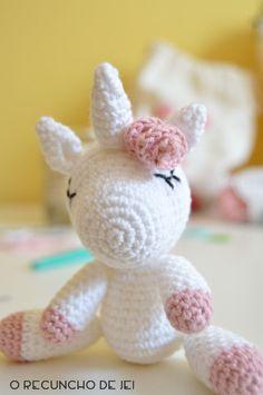 O Recuncho de Jei: Paso a paso del unicornio amigurumi