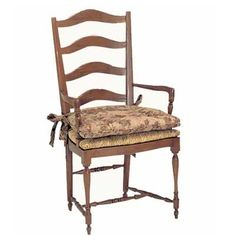 13301 Ladderback Rush Seat Arm Chair by Fremarc.  42 stained & painted finishes available.