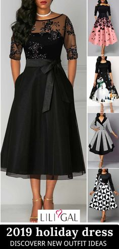 Fashion Dresses For Holiday Party~ - Fashion City Elegant Dresses, Pretty Dresses, Sexy Dresses, Beautiful Dresses, Evening Dresses, Casual Dresses, Fashion Dresses, Christmas Party Outfits, Holiday Dresses
