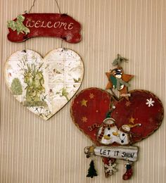 favorite home to visit Christmas Wood Crafts, Country Christmas, Christmas Art, All Things Christmas, Simple Christmas, Vintage Christmas, Christmas Decorations, Christmas Ornaments, Holiday Decor