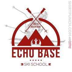 """Ski School"" by manospd is $10 today at ShirtPunch.com (02/10). #tshirt #StarWars #EchoBase #Hoth #Scifi"