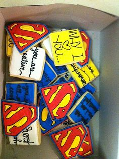 superman cookies | by Hayley Cakes and Cookies