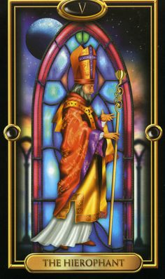 Gilded tarot deck by Ciro Marchetti: The Hierophant Find out what the Hierophant means for you: www.tarotbyemail.com