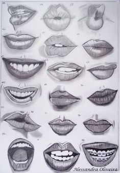 Pencil sick in 2019 mouth drawing, drawings, art sketches. Smile Drawing, Mouth Drawing, Nose Drawing, Pencil Art Drawings, Art Drawings Sketches, Realistic Drawings, Sketches Of Eyes, Realistic Rose, Art Reference Poses